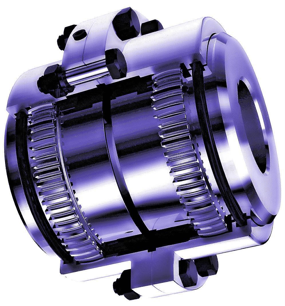 Gear Couplings Inner Hub And Ring Gear
