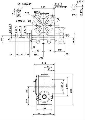Worm Reducer for Dried Powder Press-1
