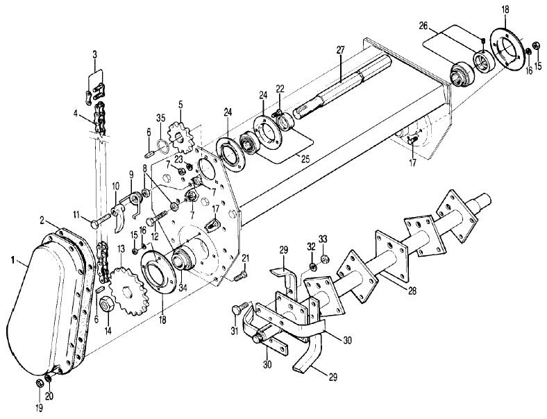 Gearbox for Rotary Cultivators-5