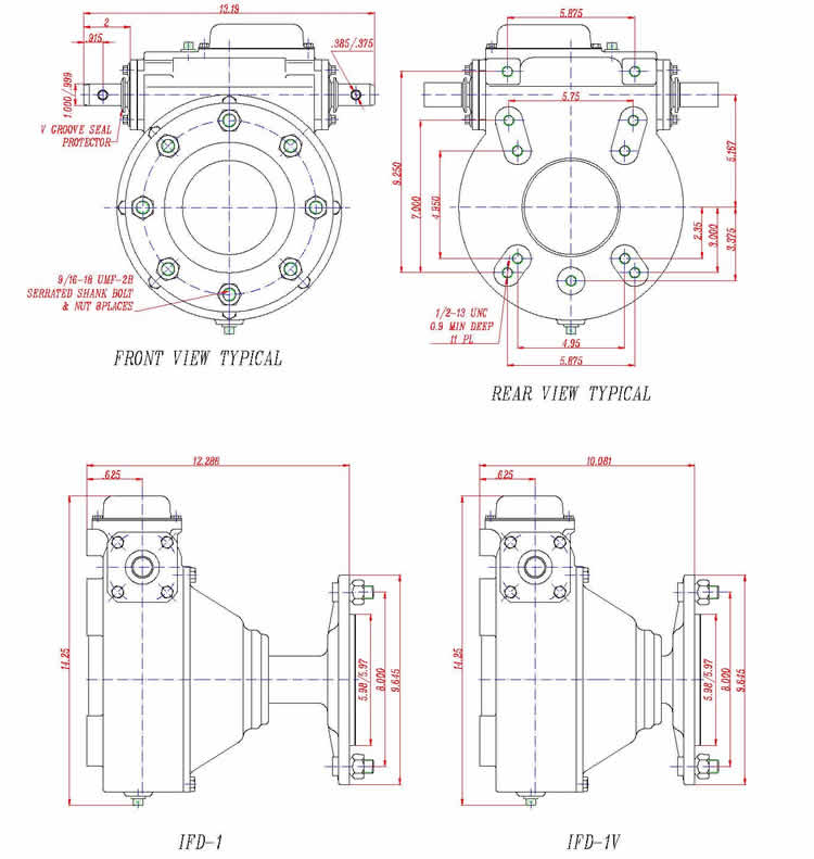 AEP-1 Series Final-dive Gear Box (Wheel-drive Gear Box)