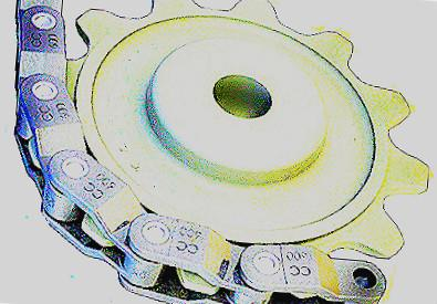 cc 600 chain and cast iron sprocket33004552369