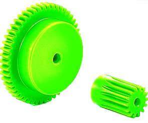 Injection Molded Spur Gears - Moulded Plastic (nylon)