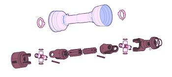 Pto Shaft & Conditioner Gearbox For Discbines