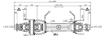 Pto Shaft & Gearbox For John Deere Flail Shredder