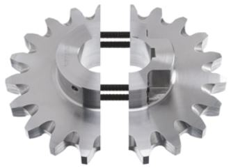 SPLIT HUBS FOR ROLLER CHAIN SPROCKETS